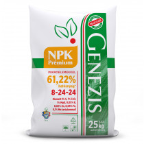 GENEZIS PRÉMIUM NPK 8-24-24, 25 kg-os zsákban, palettán